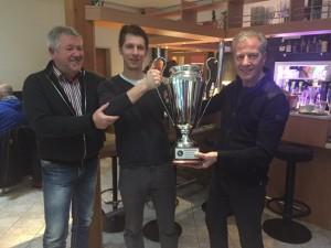 Siegerehrung Bundesliga 2015 - BOCCIA-CLUB HARD Sportliche Leiter/ÖBV Gerhard Reinalter, Techniker Simon Klaus/HARD, ÖBV-Techniker Niki Natale