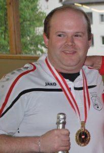 Österreichischer Staatsmeister 2016 Wolfgang Philipp / BC Hohenems