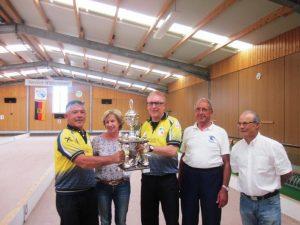 Sieger der 5. Allgäu Trophy Miro Marinovic, Gisela Öfele, Dieter ILL, Helmut Wassermann und BBD-Präsident Francesco Del Libano